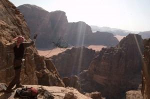climbing wadi rum